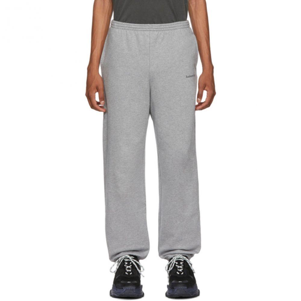 バレンシアガ Balenciaga メンズ ボトムス・パンツ スウェット・ジャージ【Grey Logo Lounge Pants】