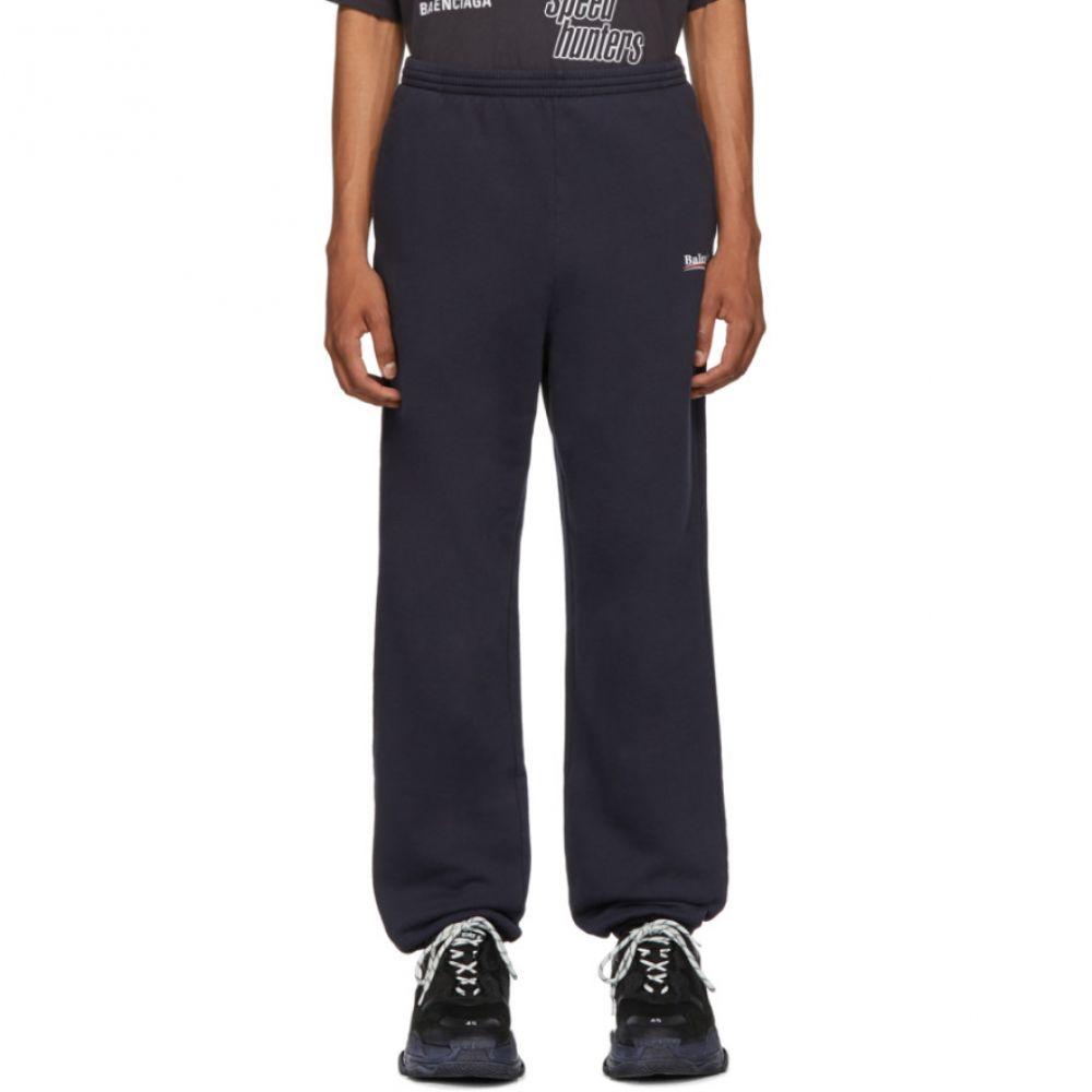 バレンシアガ Balenciaga メンズ ボトムス・パンツ スウェット・ジャージ【Navy Campaign Logo Lounge Pants】