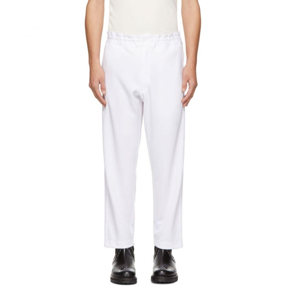 コム デ ギャルソン Comme des Garcons Homme Plus メンズ ボトムス・パンツ スウェット・ジャージ【White Smooth Lounge Pants】