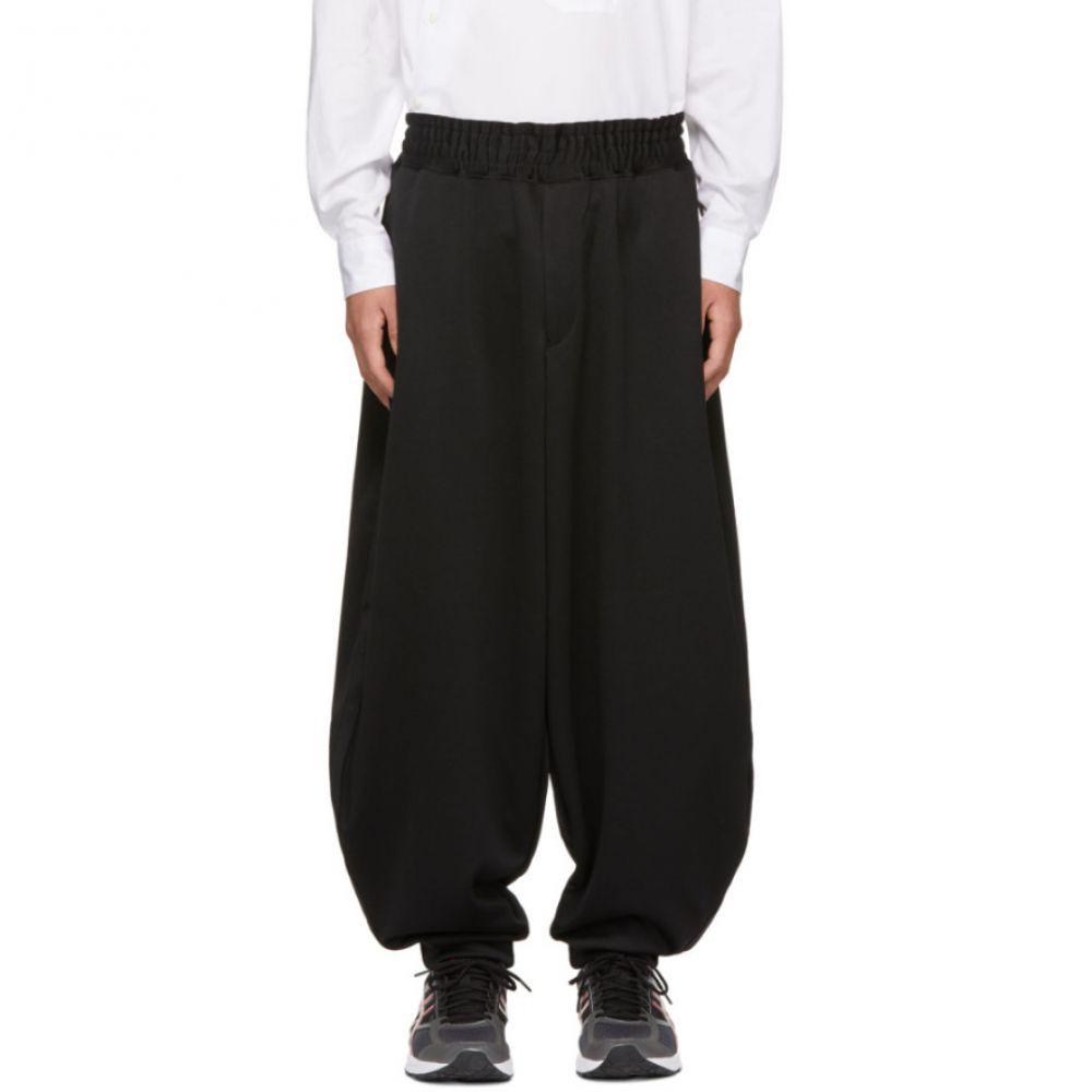 コム デ ギャルソン Comme des Garcons Homme Plus メンズ ボトムス・パンツ スウェット・ジャージ【Black Smooth Balloon Lounge Pants】
