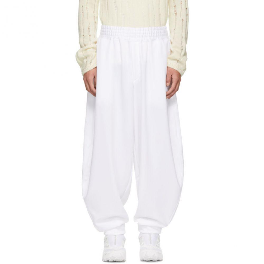 コム デ ギャルソン Comme des Garcons Homme Plus メンズ ボトムス・パンツ スウェット・ジャージ【White Smooth Balloon Lounge Pants】