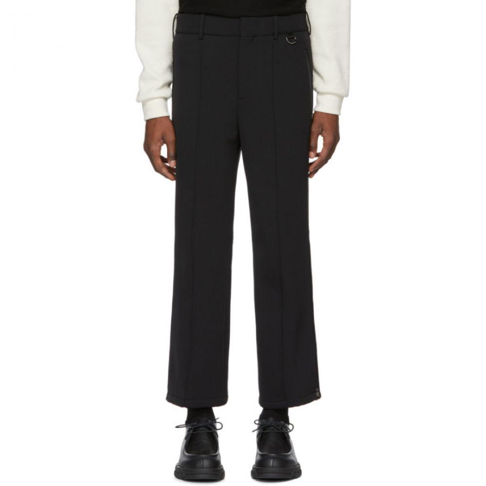 ニール バレット Neil Barrett メンズ ボトムス・パンツ【Black Zippered Cuff Ski Trousers】