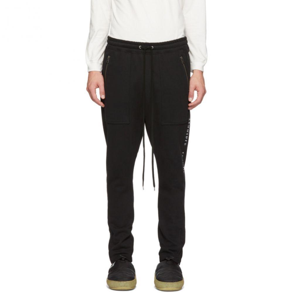 ダイエットブッチャースリムスキン Diet Butcher Slim Skin メンズ ボトムス・パンツ ジョガーパンツ【Black Embroidered Jogger Lounge Pants】