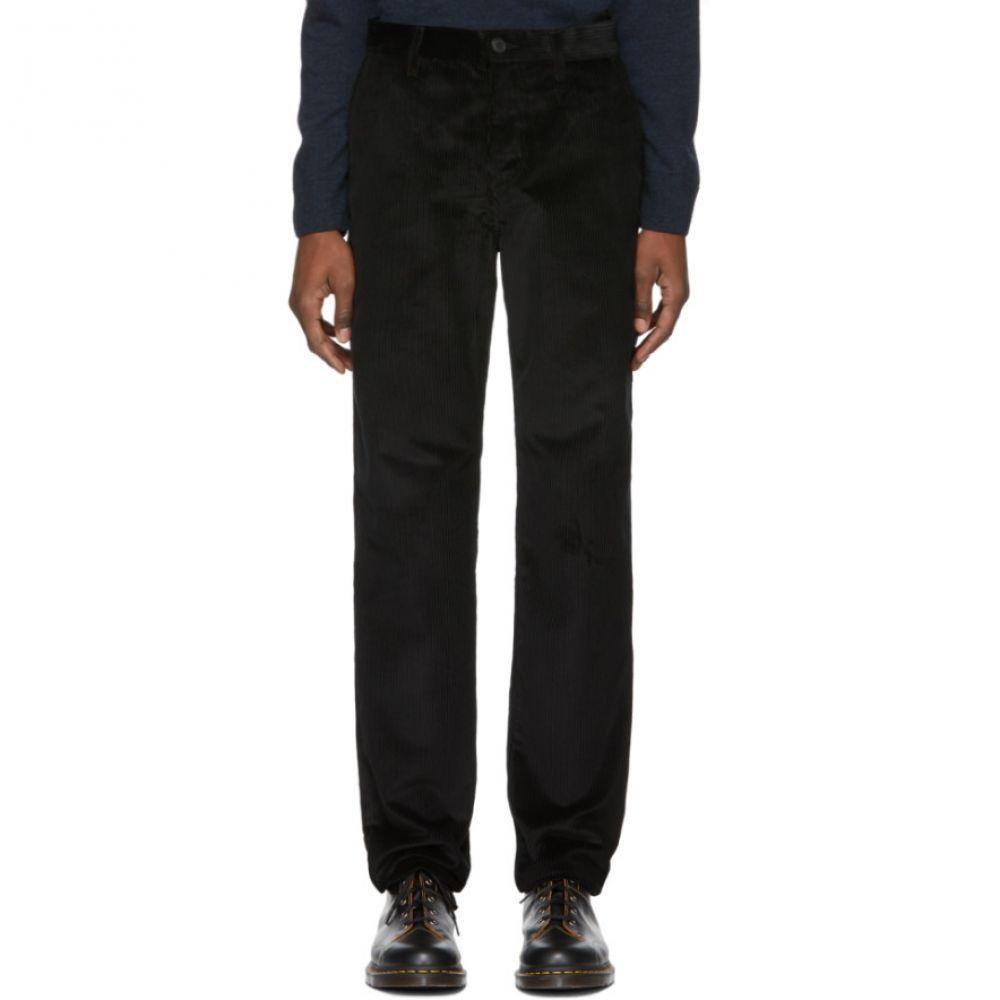 ジョン エリオット John Elliott メンズ ボトムス・パンツ【Black Corduroy Straight-Fit Trousers】