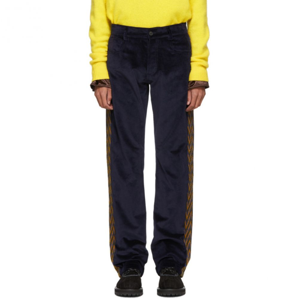 ミッソーニ Missoni メンズ ボトムス・パンツ【Navy Velvet Five-Pocket Trousers】