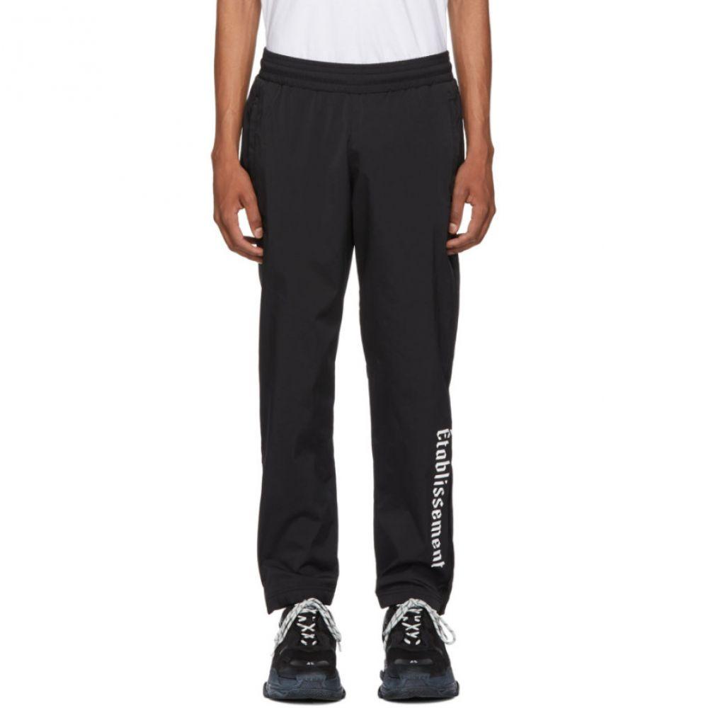 リゾートコープ Resort Corps メンズ ボトムス・パンツ スウェット・ジャージ【Black Nylon Lounge Pants】