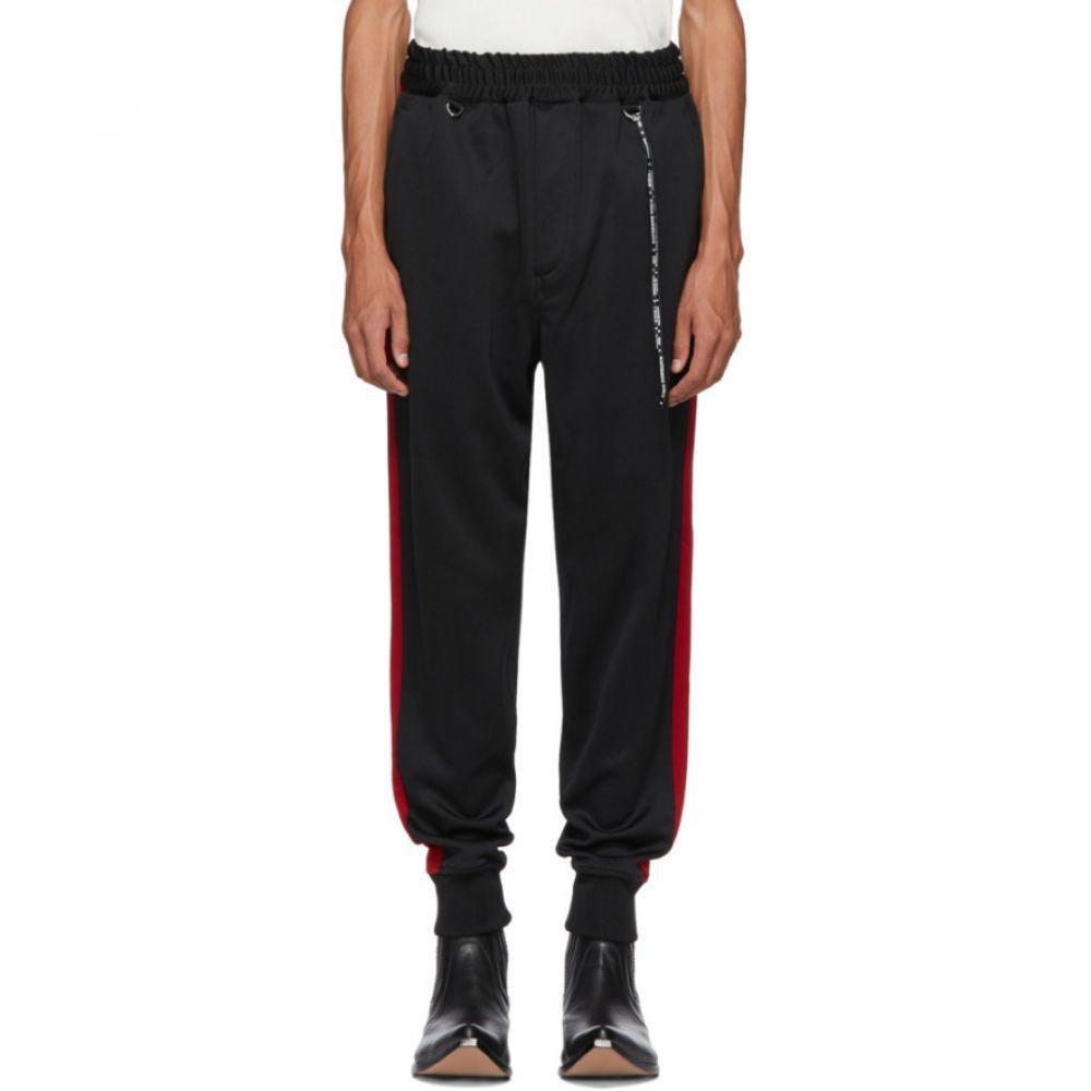 マスターマインド mastermind WORLD メンズ ボトムス・パンツ スウェット・ジャージ【Black & Red Side Line Track Pants】