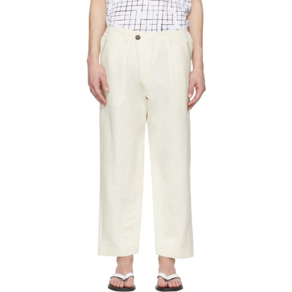 ヤン ヤン ヴァン エシュ Jan-Jan Van Essche メンズ ボトムス・パンツ【Off-White Washi Twill Trousers】