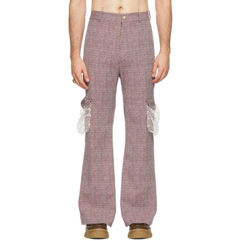パロモ スペイン Palomo Spain メンズ ボトムス・パンツ【Burgundy Net Trousers】