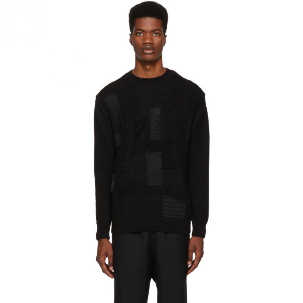 コム デ ギャルソン Comme des Garcons Homme メンズ トップス ニット・セーター【Black Multifabric Sweater】