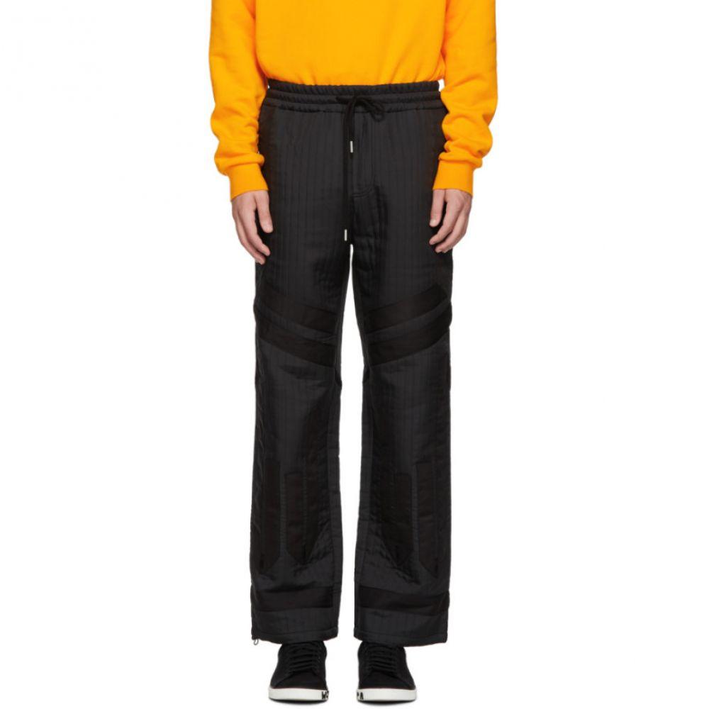 フェン チェン ワン Feng Chen Wang メンズ ボトムス・パンツ【Black Quilted Jacquard Trousers】