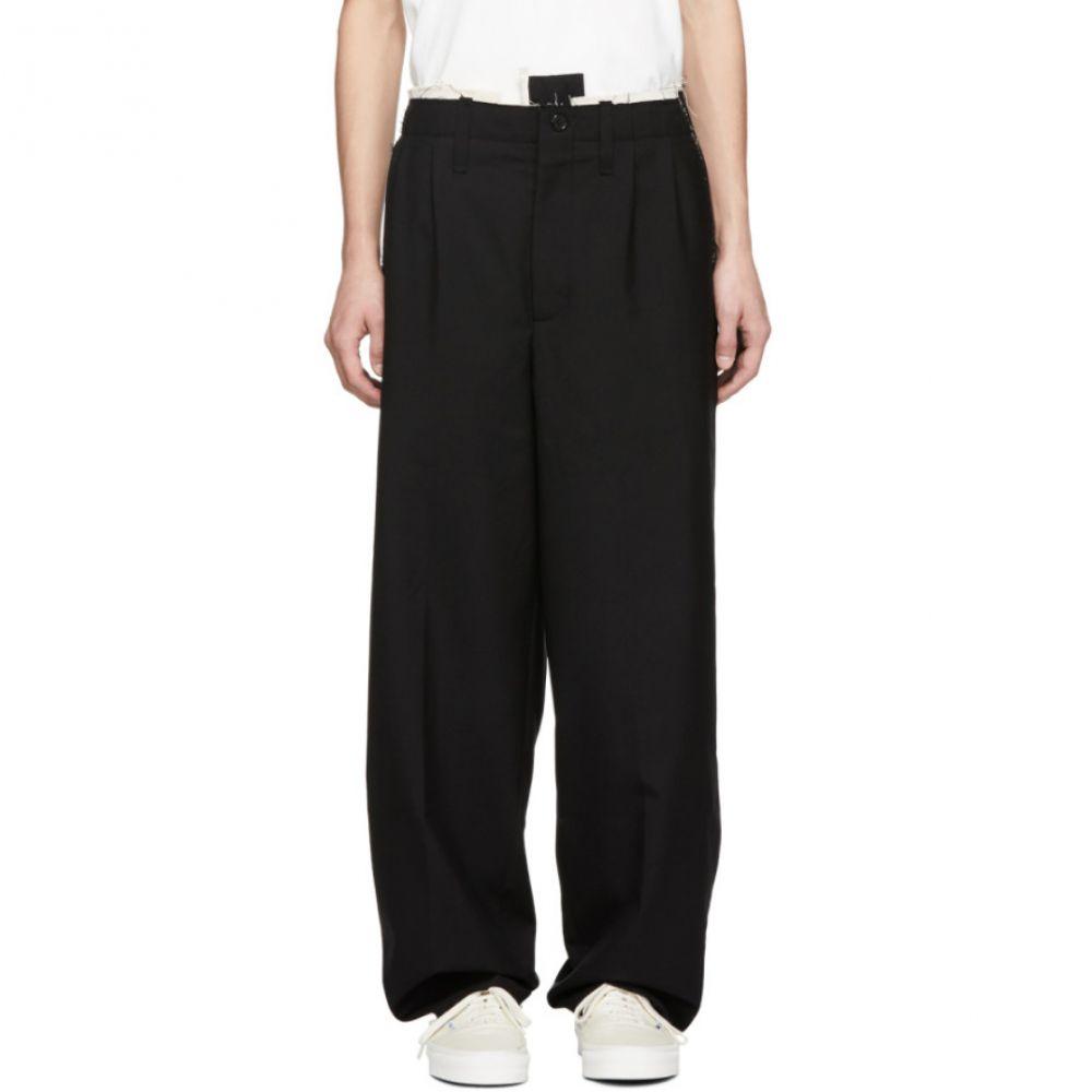 カミエル フォートへンス Camiel Fortgens メンズ ボトムス・パンツ【Black Worsted Suit Trousers】