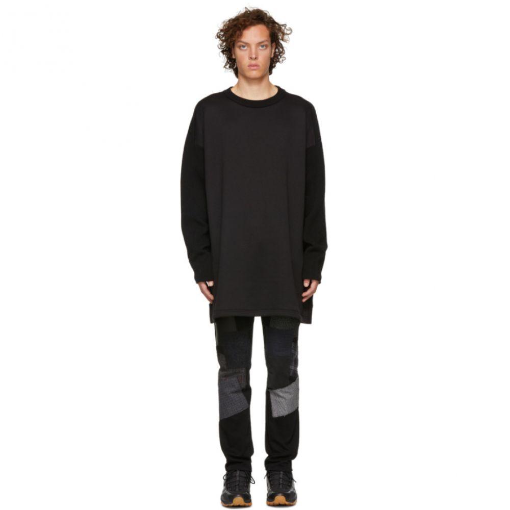 ワイスリー Y-3 メンズ トップス ニット・セーター【Black Mohair Stacked Logo Sweater】