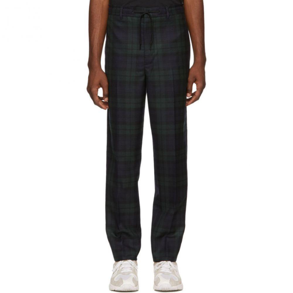 アレキサンダー ワン Alexander Wang メンズ ボトムス・パンツ【Black Plaid Tailored Trousers】