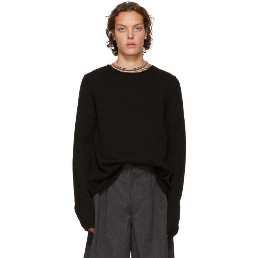 コム デ ギャルソン Comme des Garcons Shirt メンズ トップス ニット・セーター【Black Knit Wide Hem Sweater】