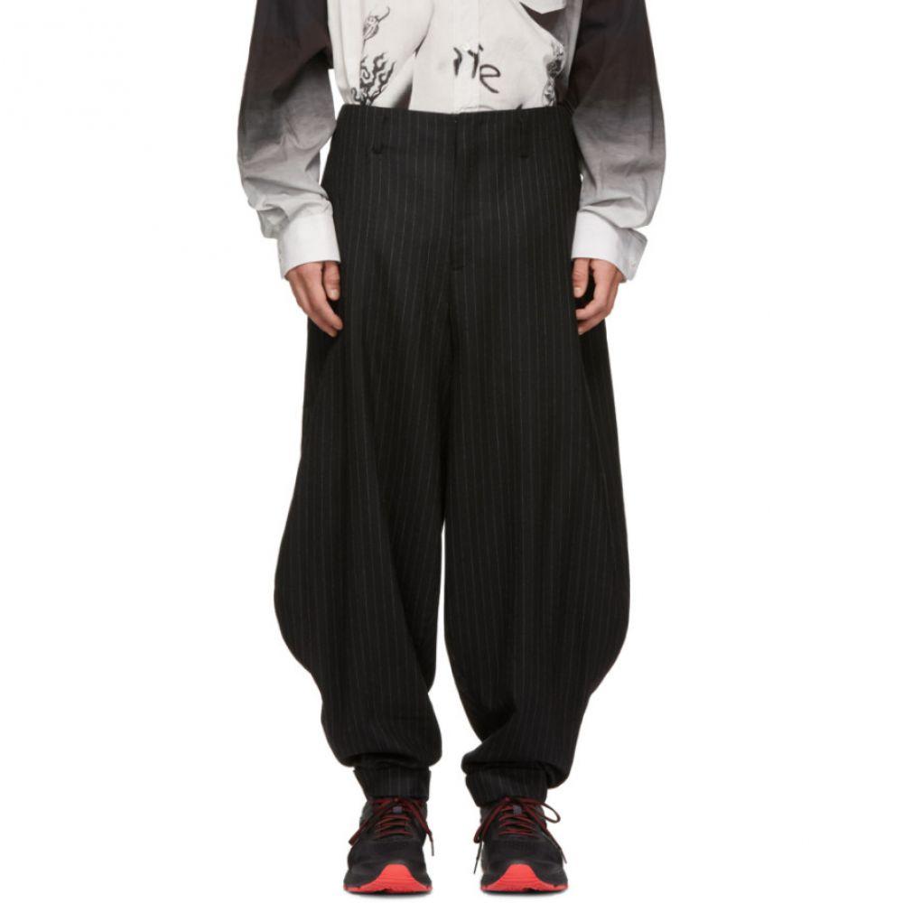コム デ ギャルソン Comme des Garcons Homme Plus メンズ ボトムス・パンツ【Black Wool Stripe Balloon Trousers】