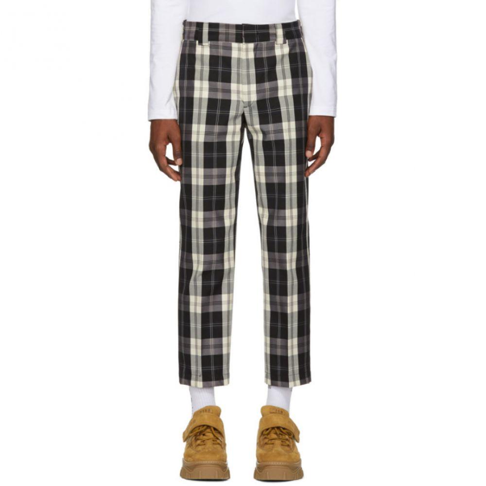 エムエスジーエム Trousers】 White & メンズ ボトムス・パンツ【Black MSGM Check