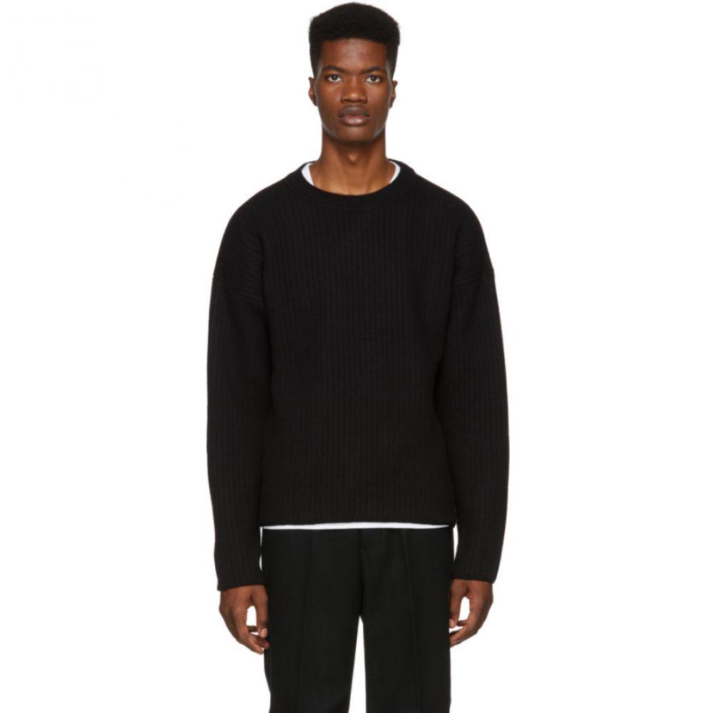 アミアレクサンドルマテュッシ AMI Alexandre Mattiussi メンズ トップス ニット・セーター【Black Wool Crewneck Sweater】