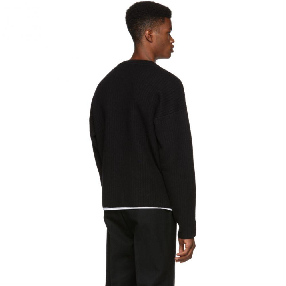 YUNY Mens Semi-hign Collar Shearling Jumper with Ribbing Edge 1 M