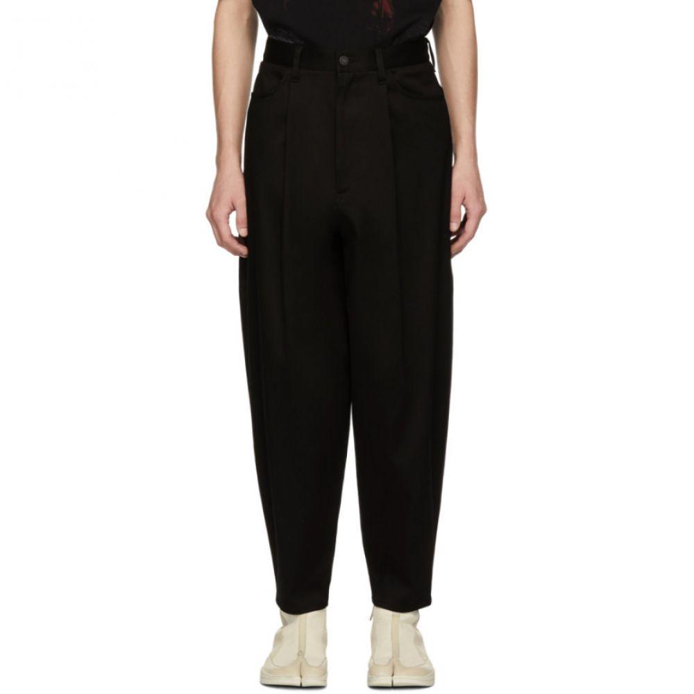 ラッド ミュージシャン Lad Musician メンズ ボトムス・パンツ【Black 1-Tuck Tapered Wide Trousers】