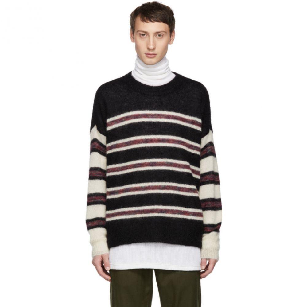 イザベル マラン Isabel Marant メンズ トップス ニット・セーター【Black & White Fancy Stripes Russel Sweater】