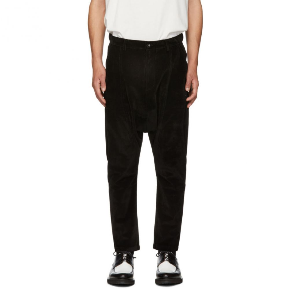 D BY D メンズ ボトムス・パンツ【Black Dropped Inseam Trousers】