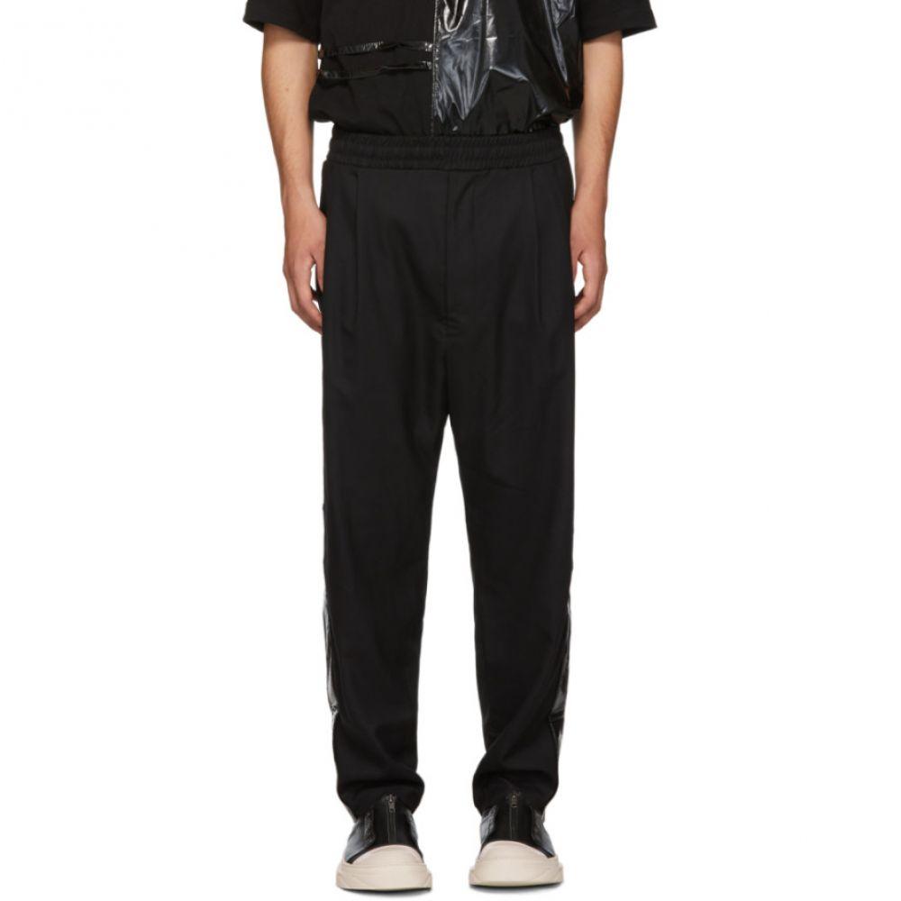 メンズ Trousers】 ボトムス・パンツ【Black D Glossy Stripe D BY
