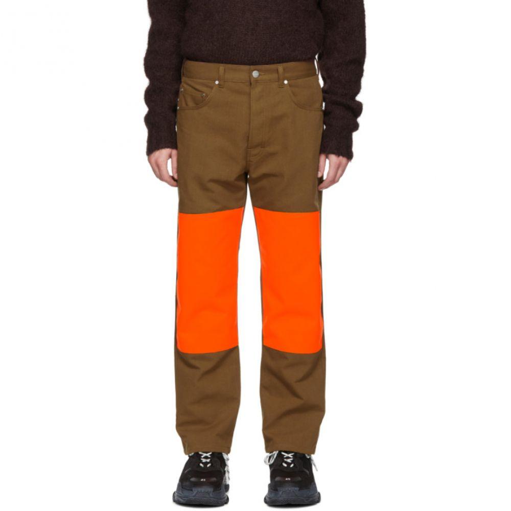 エチュード Etudes メンズ ボトムス・パンツ【Brown & Orange Corner Trousers】