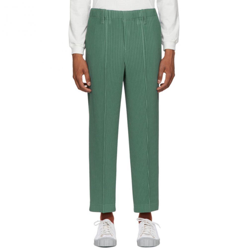 イッセイ ミヤケ Homme Plisse Issey Miyake メンズ ボトムス・パンツ【Green Tailored Pleats Trousers】