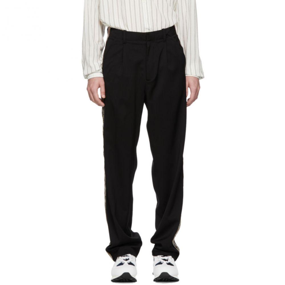 アワーレガシー Our Legacy メンズ ボトムス・パンツ【Black Sidetaped Pleated Trousers】