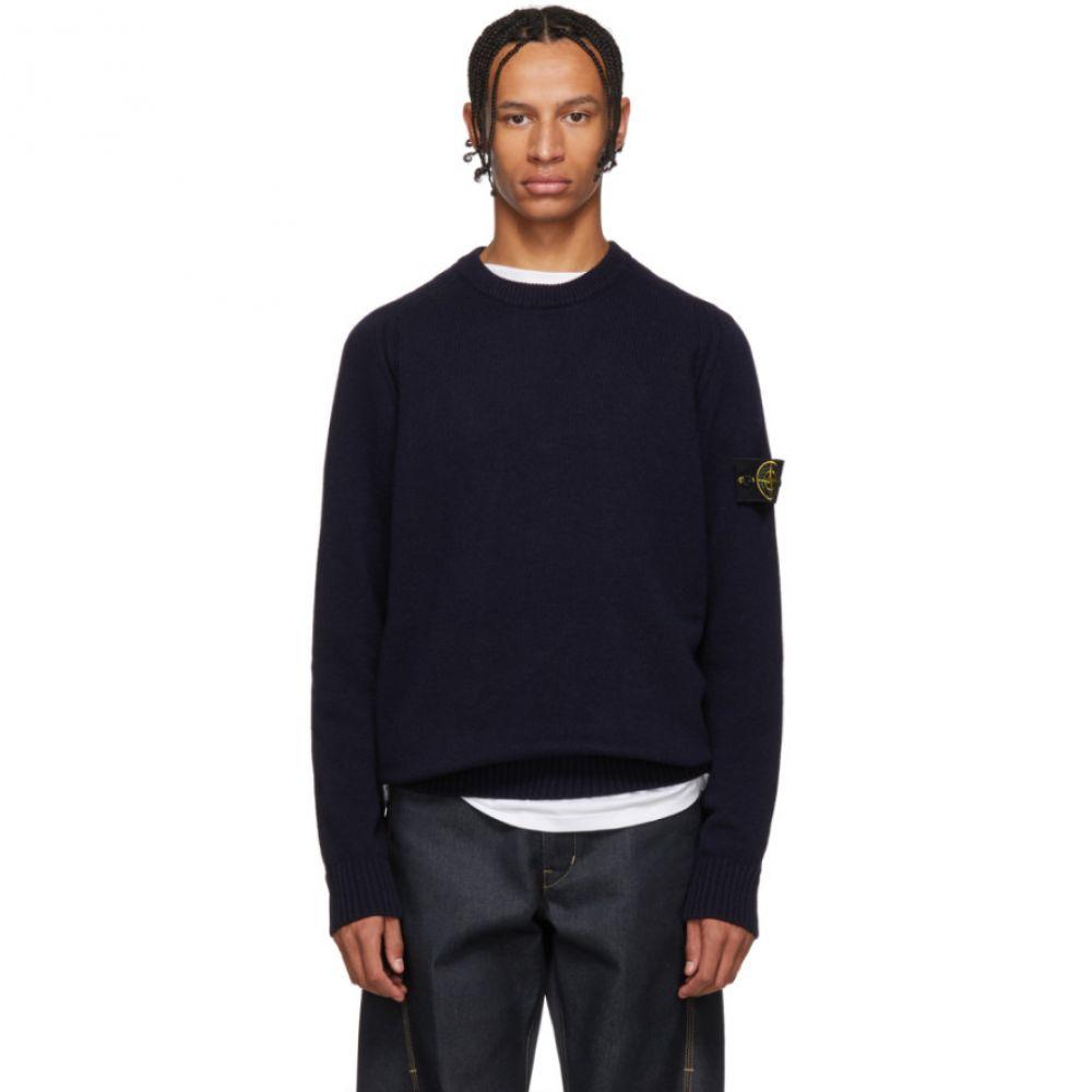 ストーンアイランド Stone Island メンズ トップス ニット・セーター【Navy Knit Sweater】