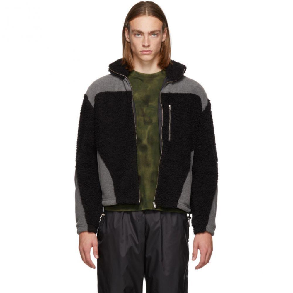 ゲーエムベーハー GmbH メンズ トップス フリース【Black & Grey Teddy Fleece Kol Zip-Up Sweater】