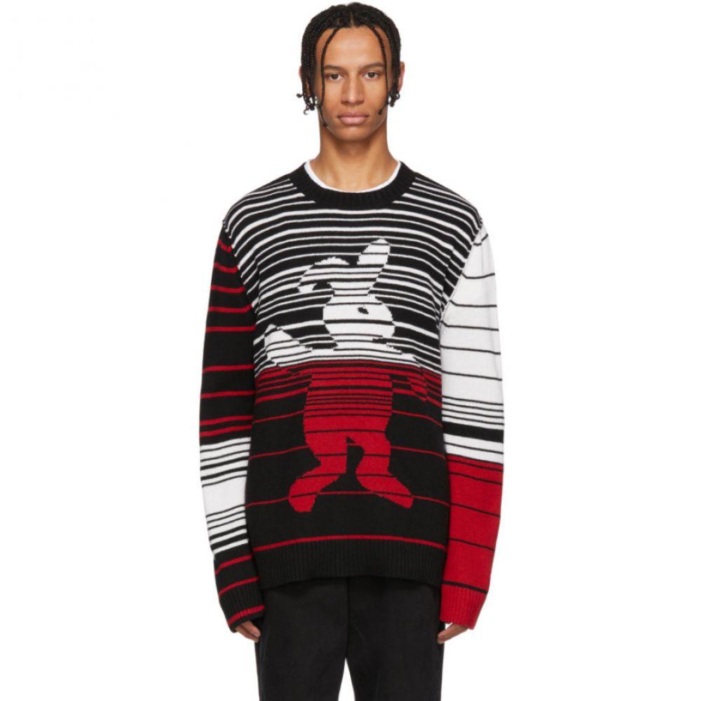 マルニ Marni Dance Bunny メンズ トップス ニット・セーター【Black & Multicolor Striped Bunny Sweater】
