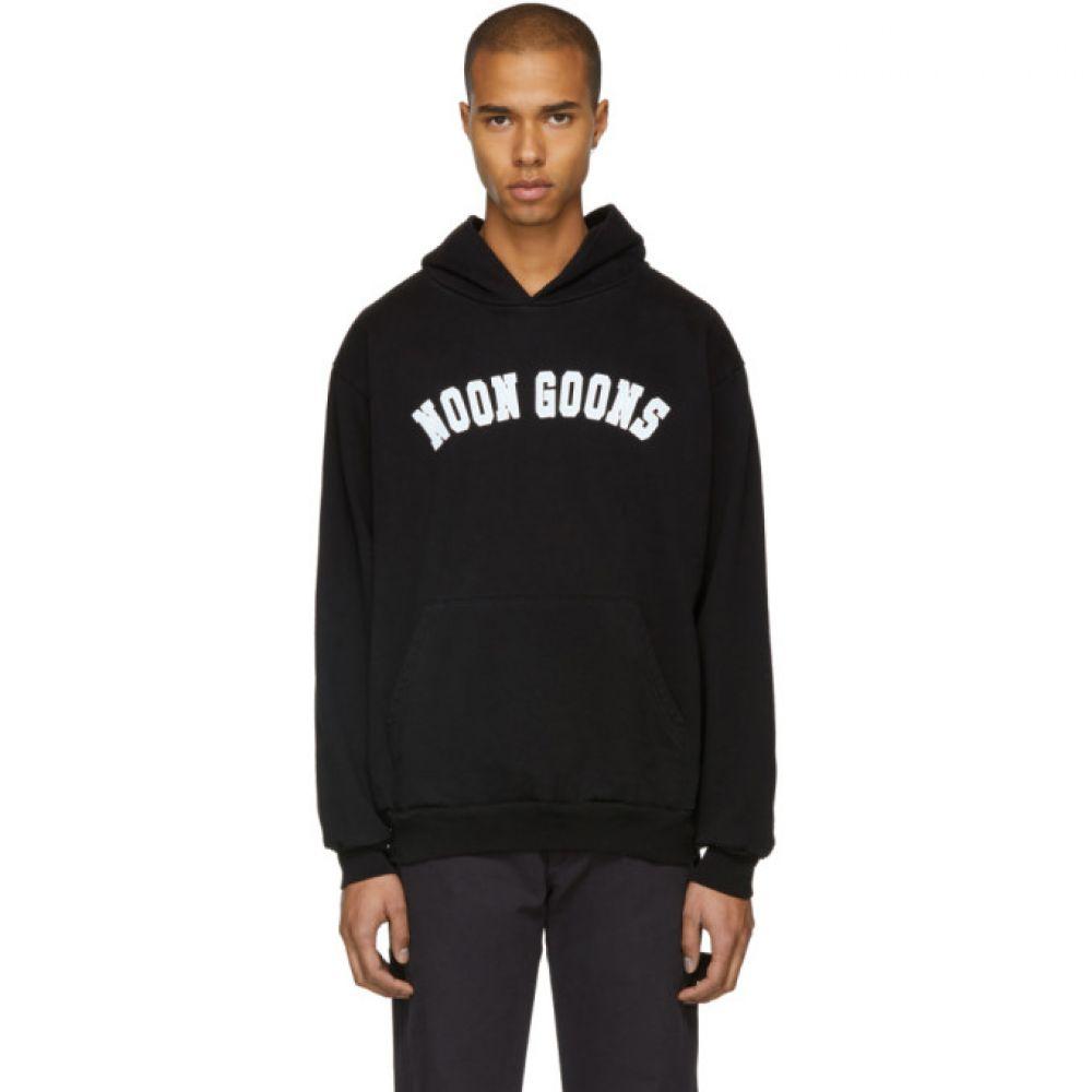ヌーン グーンズ Noon Goons メンズ トップス パーカー【Black Varsity Logo Hoodie】