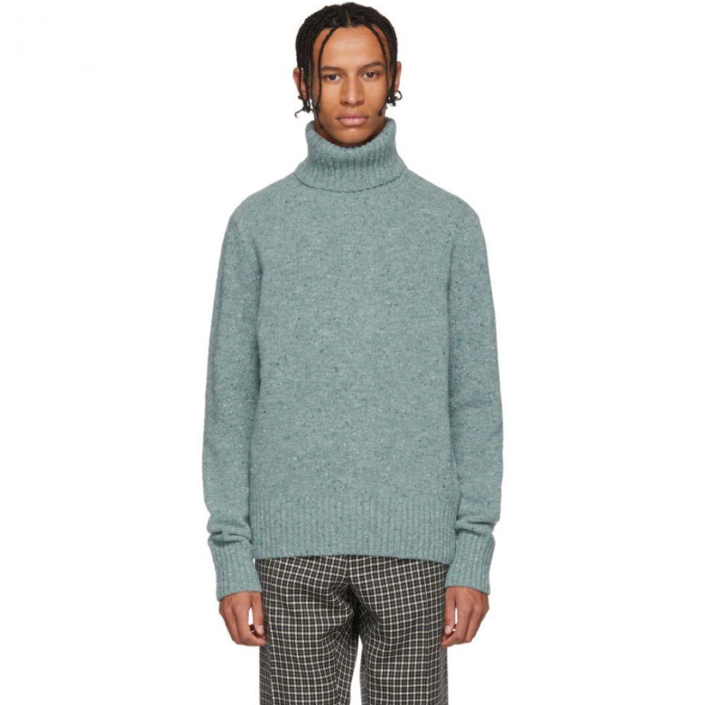 アミアレクサンドルマテュッシ AMI Alexandre Mattiussi メンズ トップス ニット・セーター【Green Merino Wool Turtleneck】
