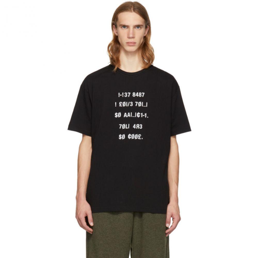 ダイエットブッチャースリムスキン Diet Butcher Slim Skin メンズ トップス Tシャツ【Black Two-Face T-Shirt】