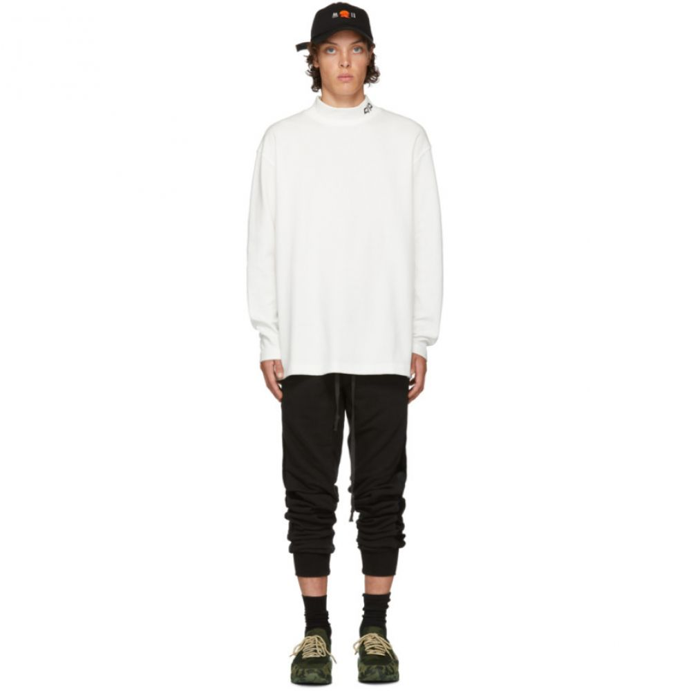 D BY D メンズ トップス ニット・セーター【White Middle Collar Turtleneck】