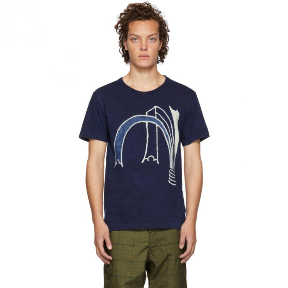 ブルーブルージャパン Blue Blue Japan メンズ トップス Tシャツ【Indigo Bassen Dye Noshi T-Shirt】