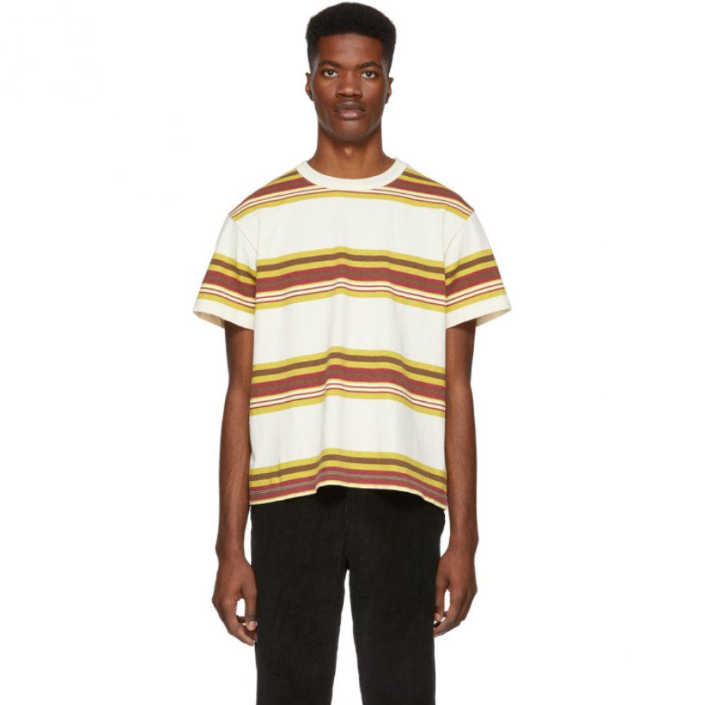 ヌーン グーンズ Noon Goons メンズ トップス Tシャツ【Off-White Surfer Stripe T-Shirt】