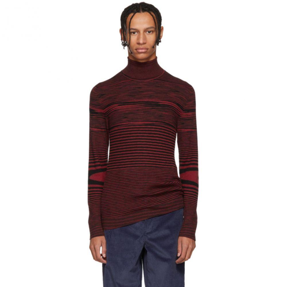 ミッソーニ Missoni メンズ トップス ニット・セーター【Red Striped Mock Neck Sweater】