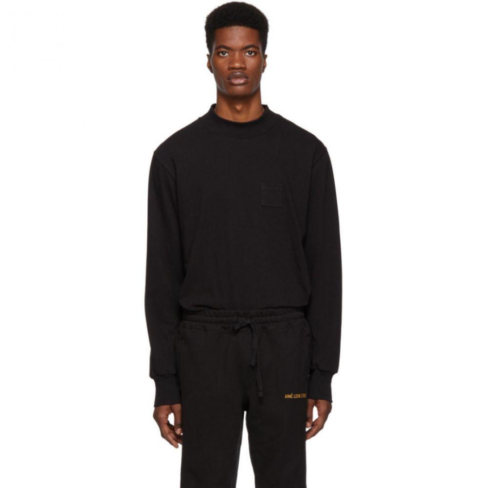 エイム レオンドレ Aime Leon Dore メンズ トップス 長袖Tシャツ【Black Dimebag Pocket Long Sleeve T-Shirt】