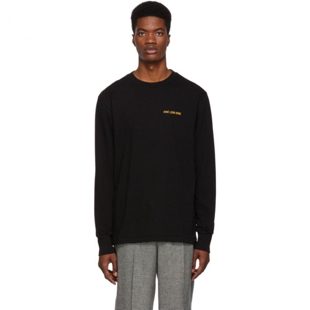 エイム レオンドレ Aime Leon Dore メンズ トップス 長袖Tシャツ【Black Logo Long Sleeve T-Shirt】