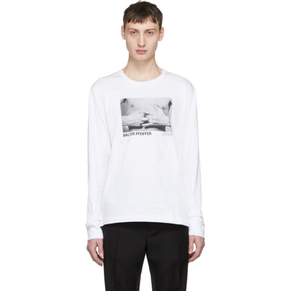 ヘルムート ラング Helmut Lang メンズ トップス 長袖Tシャツ【White Walter Pfeiffer Edition Long Sleeve 'Hands' 1984 T-Shirt】