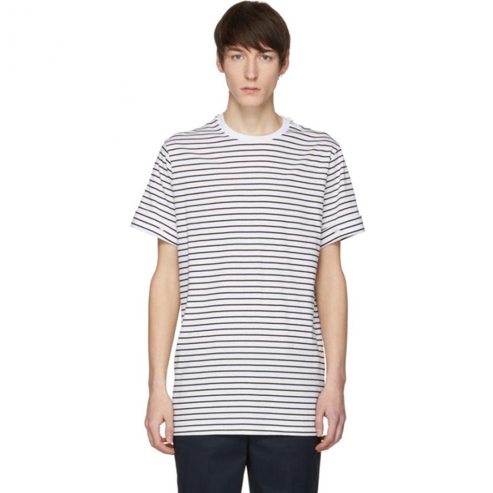 ニール バレット Neil Barrett メンズ トップス Tシャツ【White & Black Stripe T-Shirt】