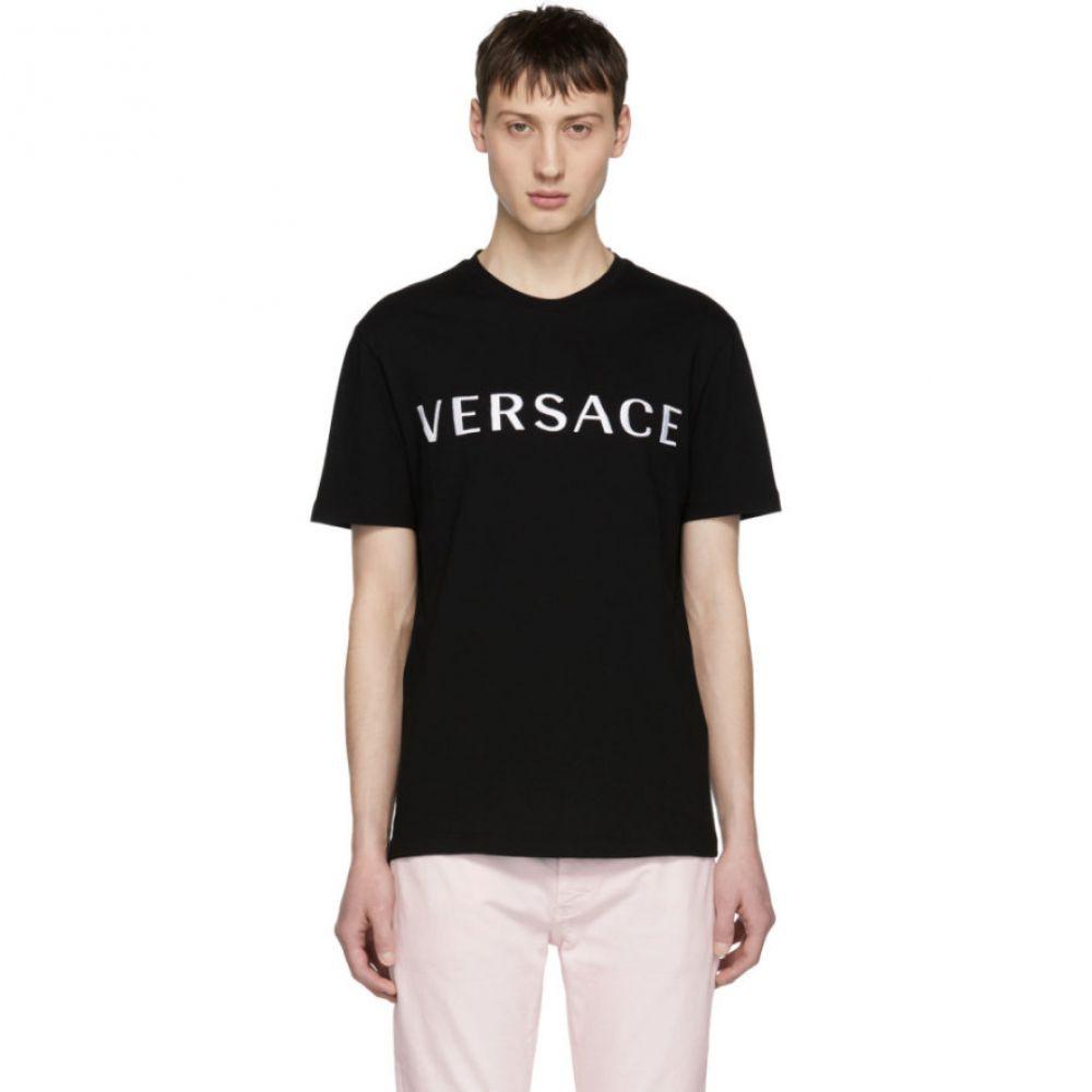 ヴェルサーチ Versace メンズ トップス Tシャツ【Black Logo T-Shirt】
