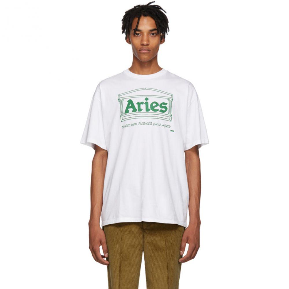 アリエス Aries メンズ トップス Tシャツ【White Logo Temple T-Shirt】
