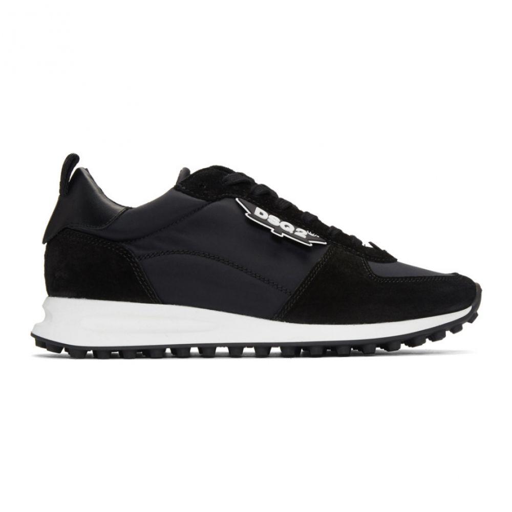 ディースクエアード Dsquared2 メンズ ハイキング・登山 シューズ・靴【Black New Runner Hiking Sneakers】
