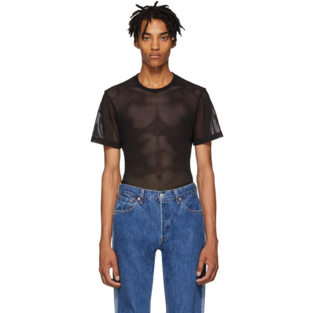 ヘルムート ラング Helmut Lang メンズ トップス Tシャツ【Black Mesh Logo T-Shirt】