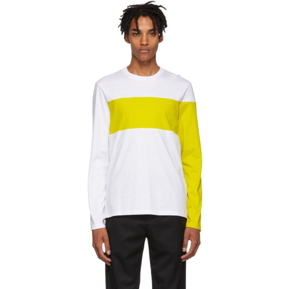 ヘルムート ラング Helmut Lang メンズ トップス 長袖Tシャツ【White & Yellow Logo Band Long Sleeve T-Shirt】