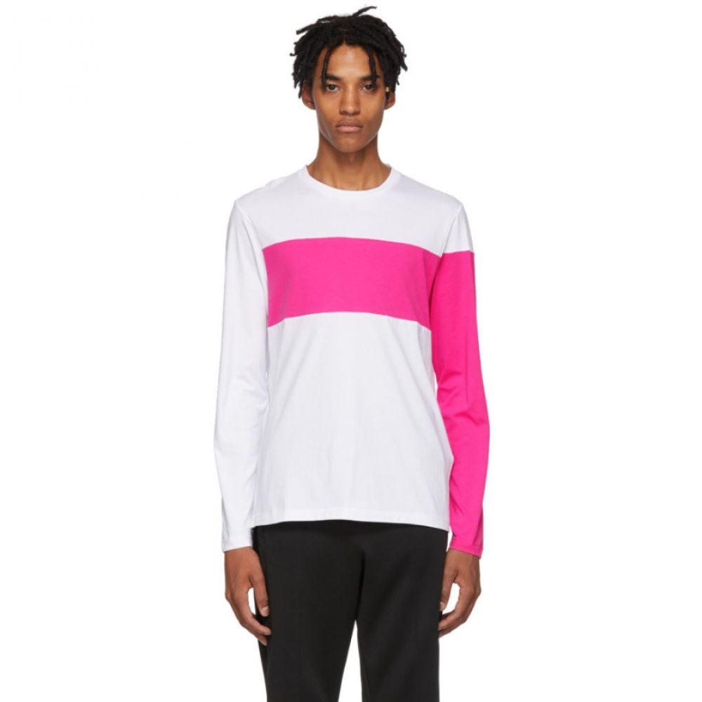 ヘルムート ラング Helmut Lang メンズ トップス 長袖Tシャツ【White & Pink Logo Band Long Sleeve T-Shirt】